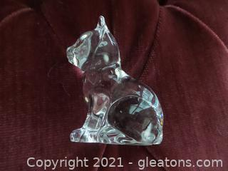 Crystal Cat Paperweight figurine