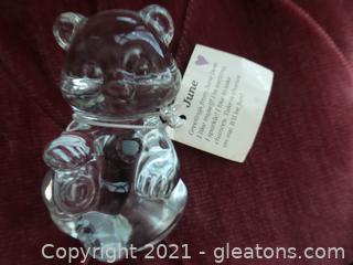 Fenton Glass Bear June Hart paperweight figurine