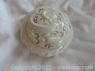 Lenox porcelain with dolphins music box