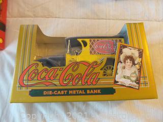 COCA COLA DIE CAST METAL BANK NEW IN BOX