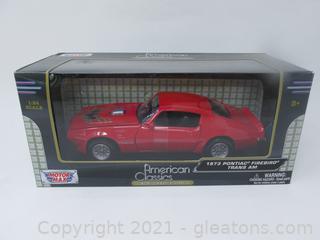 American Classic Motor Max 1973 Pontiac Five Bird Red Trans Am