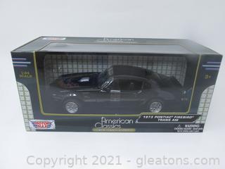 American Classic Motor Max 1973 Black Pontiac Fire Bird Trans Am