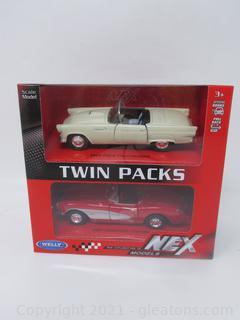 Nex 1955 Thunderbird & 1957 Corvette Models