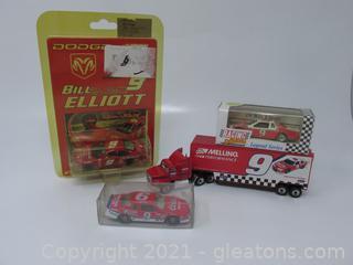 Bill Elliott 3 Cars 1 Truck