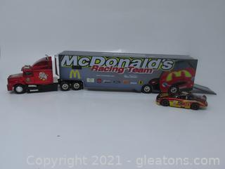 Bill Elliott McDonald's Racing Team Die-Cast Truck & Car