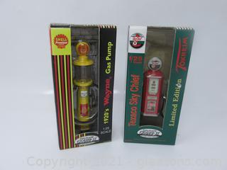 Limited Edition Texaco Sky Chief & Shell Wayne Gas Pumps