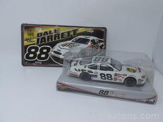 Dale Jarrett Winner's Circle No.88 Die Cast Racer & License Plate