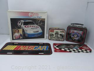 Nascar 5 piece lot with Lunch Boxes