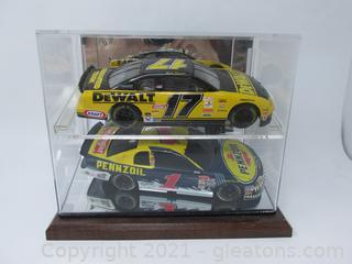 Matt Kenseth Two Cars in Case Dewalt & Pennzoil