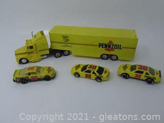 Michael Waltrip Transport Truck W/3 Cars
