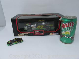 Kyle Petty #42 Can of Mello Yellow & 2 Cars