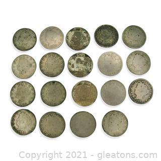 Liberty Head Nickel Lot 1898-1903
