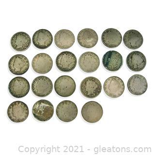 Liberty Head Nickel Lot 1904-1906