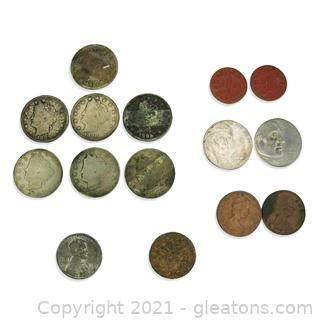 Assortment of Old Coins