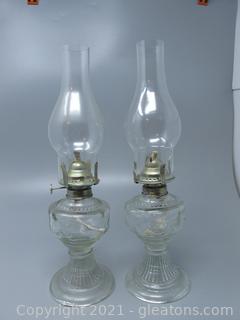 Pair of Vintage Oil Lamps