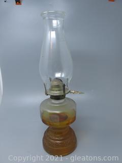 Sawtooth Chimney Adorns This Vintage Oil Lamp