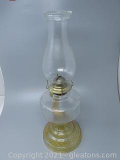 From Times Past ,Pressed Glass with Amber Tint On Base