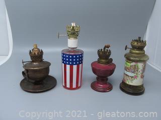 Four Unique Oil Lamps Without Chimneys