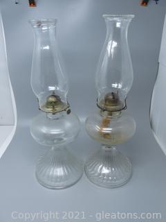 A Fabulous Pair of Oil Lamps