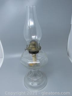 Vintage Pressed Glass Oil Lamp