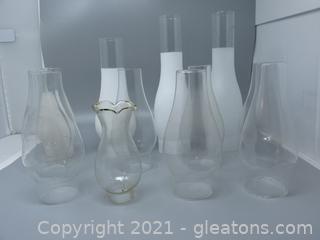 12 Oil Lamp Chimneys