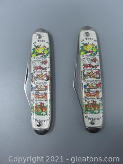 2 Novelty Knife Company - 12 Days of Christmas Pocket Knives