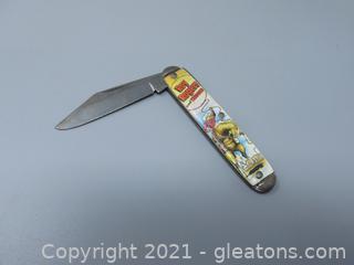 Novelty Knife Company Roy Rogers Pocket Knife