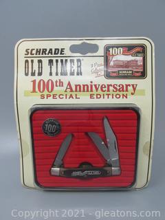 Schrade Old Timer 100th Anniversary Pocket Knife