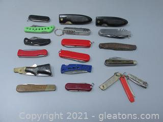 16 Pocket Knives