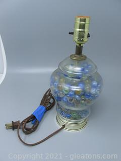 Electric Lamp Filled with Marbles