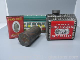 4 Vintage Tins