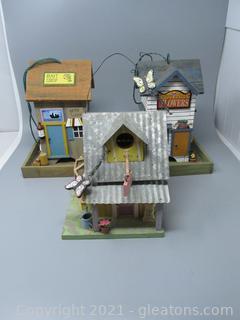 Two Cute Bird Feeders & One Darling Bird House