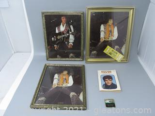 Pictures of Elvis in Concert with Book & Magnet