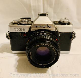 Minolta XG-1 45 mm/35 mm SLR Film Camera