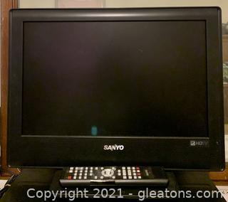 "Sanyo 18"" HD T.V. Flat Screen"