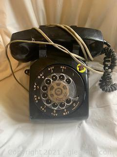 Black Rotary Dial Telephone I