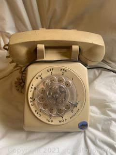 Beige Rotary Dial Telephone I