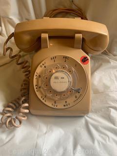 Beige Rotary Dial Telephone II