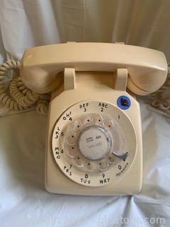 Beige Rotary Dial Telephone