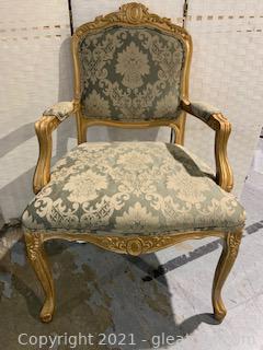 Lightweight Louis XV Painted Armchair