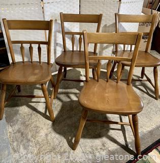 4 Arrow Back Hitchcock Chairs