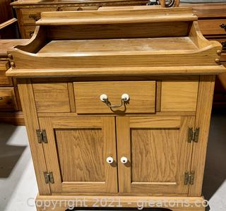 Rex Furniture Oak Dry Sink Cabinet