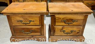A Pair of American Drew Night Stands