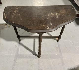 Mahogany Half Moon Hall Table