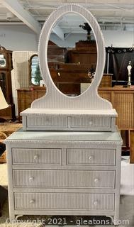 Henry Link Wicker Vanity 6 Drawer Dresser