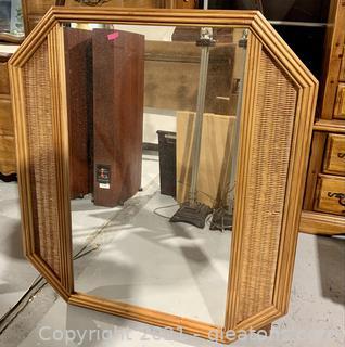 Beachy Oak Wall Mirror