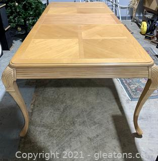 Appealing 10 Place Wood Inlay Dining Table