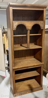 6 Shelf Oak Book Shelf
