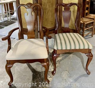 A Pair of Splat Back Dining Chairs