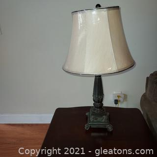 Nice Column Table Lamp with Shade